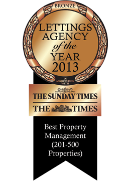Bronze Sunday Times Letting Agency of The Year Awards